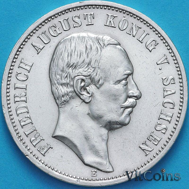Монета Германии 3 марки 1911 год. Серебро.