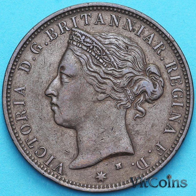 Монета Джерси 1/12 шиллинга 1877 год.
