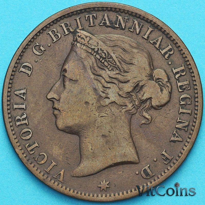 Монета Джерси 1/12 шиллинга 1881 год.