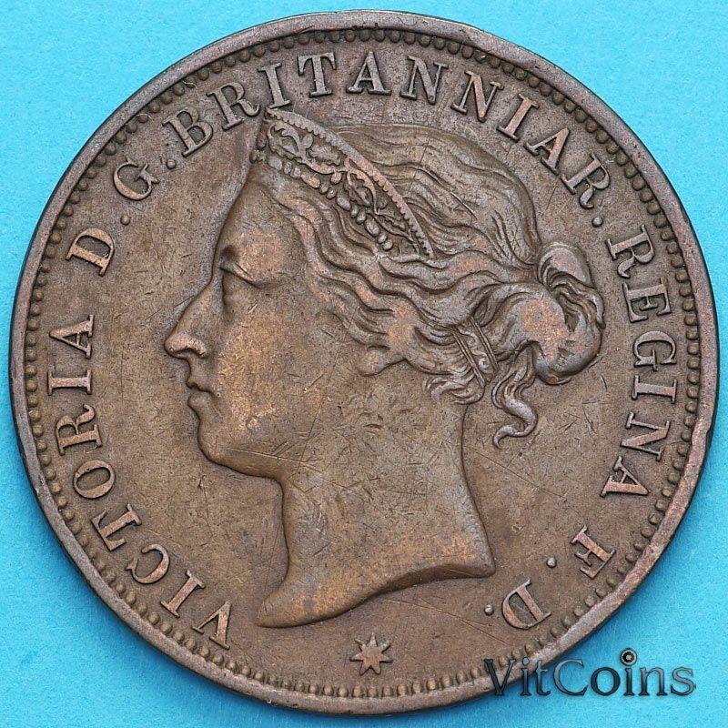 Монета Джерси 1/12 шиллинга 1888 год.