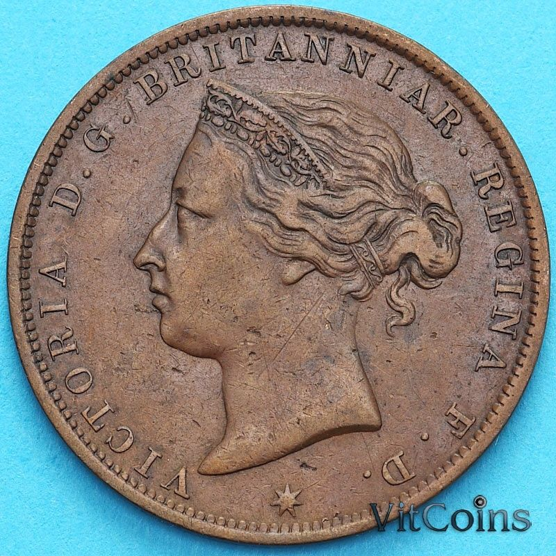 Монета Джерси 1/24 шиллинга 1888 год. Виктория.