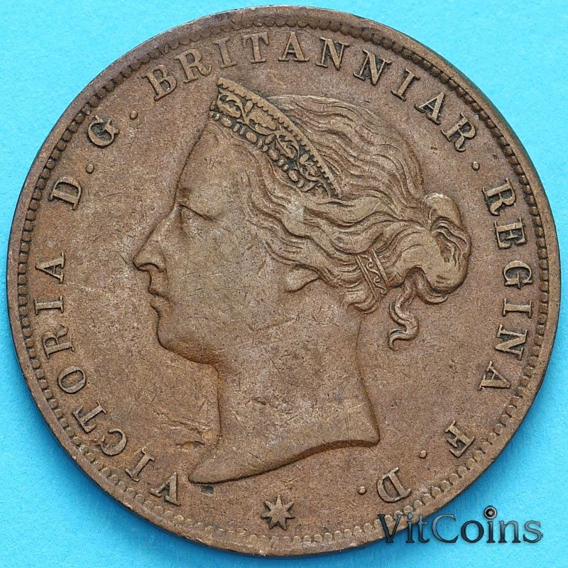 Монета Джерси 1/24 шиллинга 1894 год. Виктория.