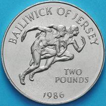 Джерси 2 фунта 1986 год. XIII Игры Содружества