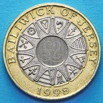 Джерси 2 фунта 1998 год.