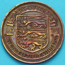 Джерси 1/12 шиллинга 1923 год. Испанский щит.