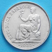 Испания 1 песета 1933 год. Серебро.