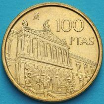 Испания 100 песет 1996 год. Национальная библиотека