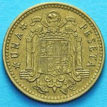 Испания 1 песета 1966 год.