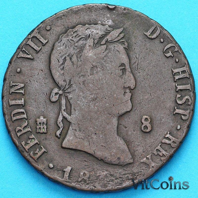 Монета Испания 8 мараведи 183? год