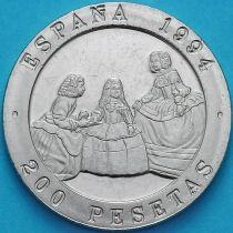 Испания 200 песет 1994 год.  Веласкес и Гойя.