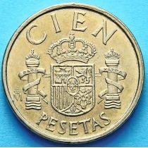 Испания 100 песет 1982-1990 год.