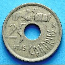 Испания 25 песет 1994 год. Канарские острова.