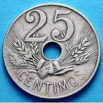 Испания 25 сантимов 1927 год.