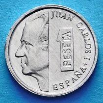 Испания 1 песета 2001 год. Король Хуан Карлос I