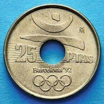 Лот 10 монет. Испания 25 песет 1990-1991 год.