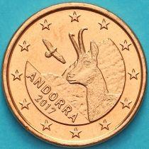 Андорра 1 евроцент 2017 год.
