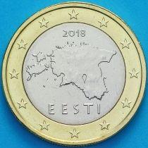 Эстония 1 евро 2018 год. Большие звезды.