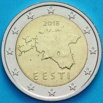 Эстония 2 евро 2018 год. Большие звезды.