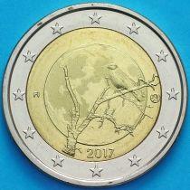 Финляндия 2 евро 2017 год.  Финская природа.
