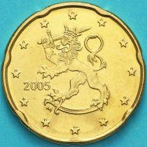 Финляндия 20 евроцентов 2005 год. М