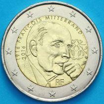 Франция 2 евро 2016 год. Франсуа Миттеран