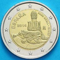 Испания 2 евро 2014 год. Парк Гуэля.