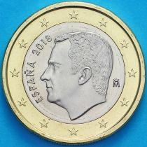 Испания 1 евро 2018 год.  Филипп VI