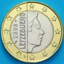 Люксембург 1 евро 2008 год. F