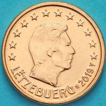 Люксембург 1 евроцент 2019 год. Лев