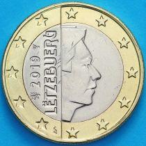 Люксембург 1 евро 2019 год. Лев.