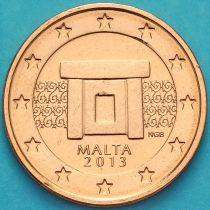 Мальта 2 евроцента 2013 год.