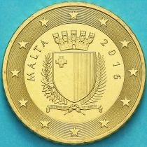 Мальта 50 евроцентов 2016 год. F
