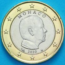 Монако 1 евро 2020 год. Тип 2