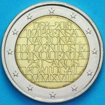 Португалия 2 евро 2018 год. Монетный двор.