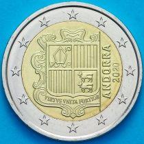 Андорра 2 евро 2020 год.