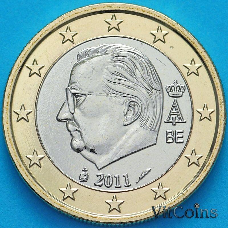 Монета Бельгия 1 евро 2011 год.