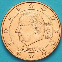 "Бельгия 2 евроцента 2013 год. (тип 3). Знак ""кошка"""