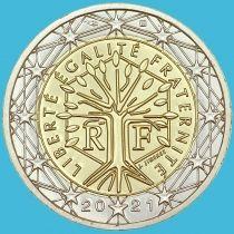 Франция 2 евро 2021 год. Loose новый знак гравёра.