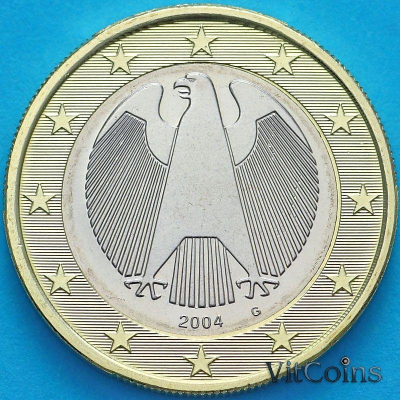 Монета Германия 1 евро 2004 год. G
