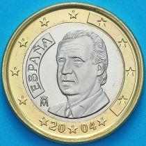 Испания 1 евро 2004 год.  Хуан Карлос I