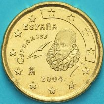 Испания 20 евроцентов 2004 год.