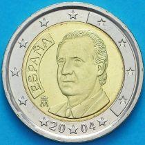 Испания 2 евро 2004 год. Хуан Карлос I