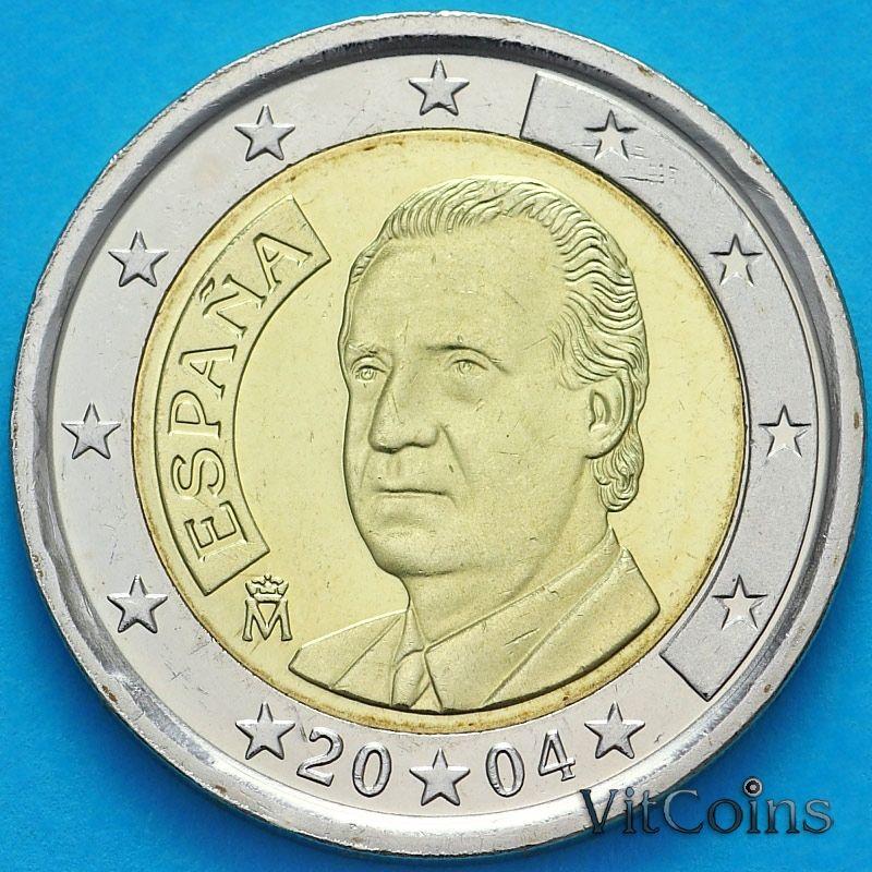 Монета Испания 2 евро 2004 год. Хуан Карлос I