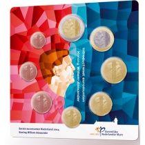 Нидерланды годовой набор евро 2014 (8 монет, в официальном буклете, тип 2)