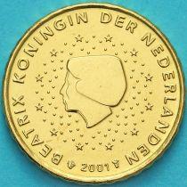 Нидерланды 10 евроцентов 2001 год. (тип 1)