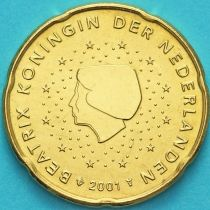 Нидерланды 20 евроцентов 2001 год. (тип 1)
