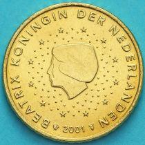 Нидерланды 50 евроцентов 2001 год. (тип 1)