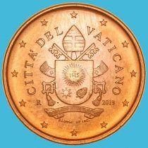 Ватикан 1 евроцент 2019 год. Тип 5
