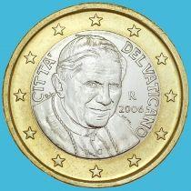 Ватикан 1 евро 2006 год.