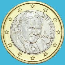 Ватикан 1 евро 2007 год.